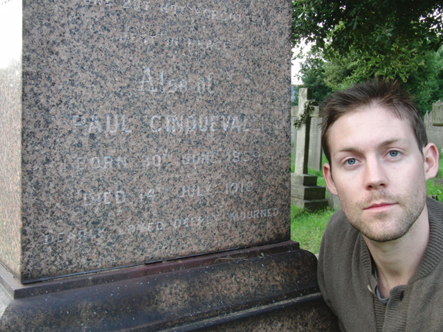 At the grave of Paul Cinquevalli